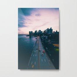 Sunset New York City (Color) Metal Print