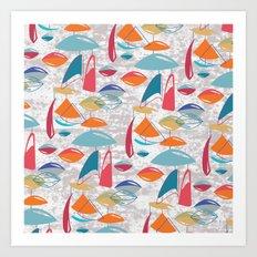 Abstract Atomics Art Print