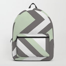 Urban Geometric modern square shapes mid century pattern soft pastel green Backpack