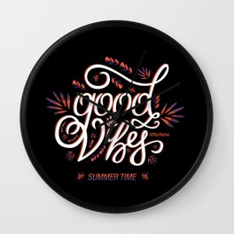 Good Vibes Summer Time Wall Clock