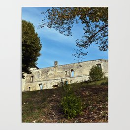 Abbey in South West of France Poster