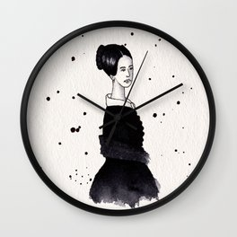 Lady in black Wall Clock