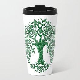 Tree of life green Travel Mug