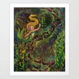 Mermaid Melodies Art Print