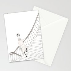 girl on a stair Stationery Cards