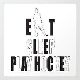 Eat, Sleep, Play Soccer Art Print