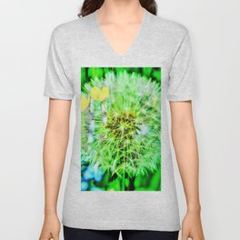 Abstract in Perfection - Blowball Unisex V-Neck