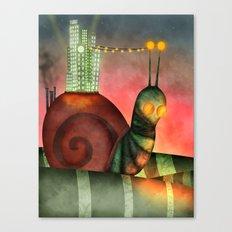 Crawling City   Canvas Print