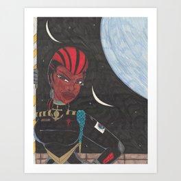 Starship Captain Art Print