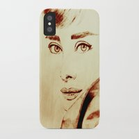 audrey hepburn iPhone & iPod Cases featuring Audrey Hepburn by Farinaz K.