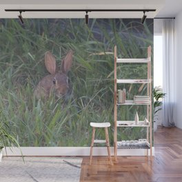 Rabbit in the Grass Wall Mural