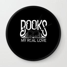 Read Llove Books Wall Clock
