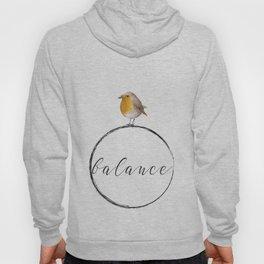 Bird watercolor - balance Hoody