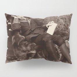 Oscar Wilde Lounging Portrait Pillow Sham