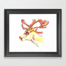 Holdiday drawings : Reindeer Framed Art Print