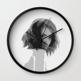 Black and white lady Wall Clock