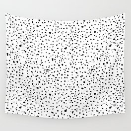 spotty dotty in black and white Wall Tapestry