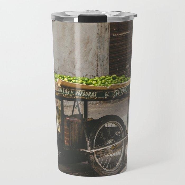 Limes on the Street, Cartagena, Colombia Travel Mug