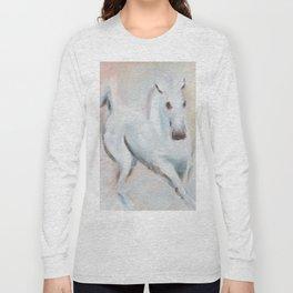 white horses Long Sleeve T-shirt