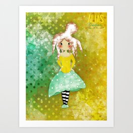 Poline au poulpe Art Print