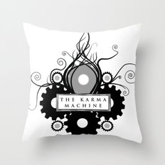 The Karma Machine Throw Pillow