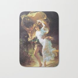 The Storm Painting By Pierre Auguste Cot Bath Mat