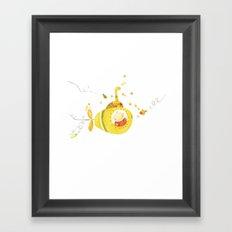 Baby's yellow submarine Framed Art Print