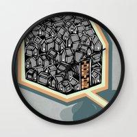 community Wall Clocks featuring Community by Scott Erickson