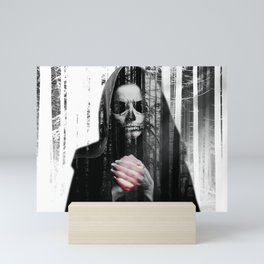 Death Waits Mini Art Print