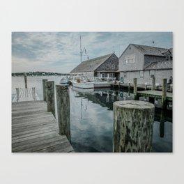 Fishing Dock - Edgartown Canvas Print