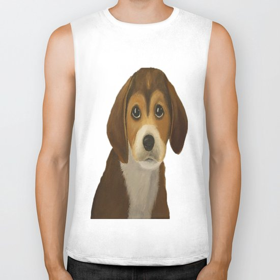 Cute Doggy Painting Biker Tank