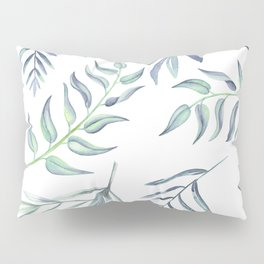 Floating Leaves Blue #society6 #buyart Pillow Sham
