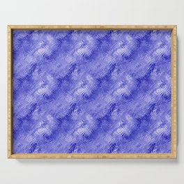 Blue Crystal Gel Glassy Abstract Pattern Serving Tray
