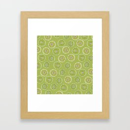 Lime Oranges Pattern Framed Art Print