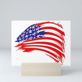 USA Sketched Flag Mini Art Print
