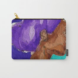 Purple Afro Carry-All Pouch