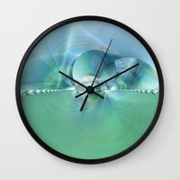 heaven Wall Clocks featuring Heaven by Christine baessler