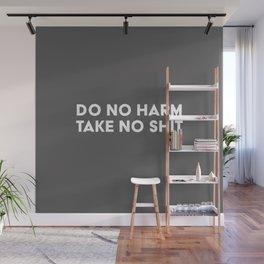 Do No Harm Take No Shit - Grey Wall Mural