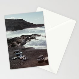 Boats on a beach Stationery Cards