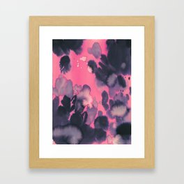 watercolor waves COLLAB DYLAN SILVA Framed Art Print