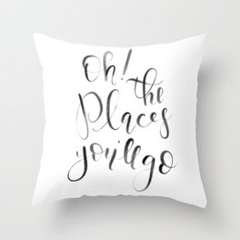 Oh! The Places You'll Go! (Dr. Seuss) Throw Pillow