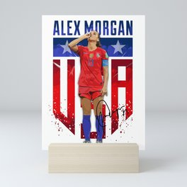Alex Morgan Sipping Tea Mini Art Print