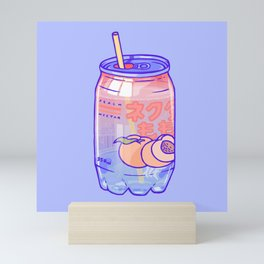 Peach Bubbles Mini Art Print