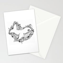 Whale Lineart Stationery Cards