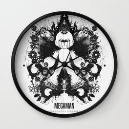 Megaman Geek Ink Blot Test Wall Clock