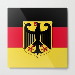 Germany flag emblem Metal Print