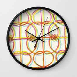 Neon Rejas Wall Clock