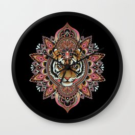 Tiger Mandala Wall Clock