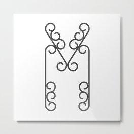 "Letter ""M"" in beautiful design Fashion Modern Style Metal Print"