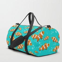 Tropical Clownfish Pattern Duffle Bag